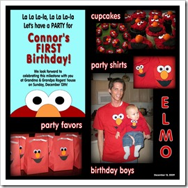 Connor's 1st Birthday Party Collage  12.13.09