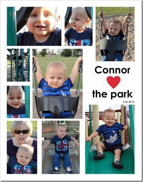 Connor hearts the park - Fall 2010