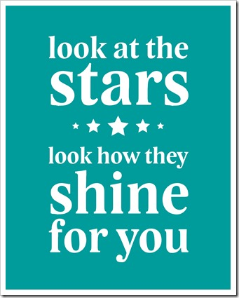Just Because 32 - look at the stars - 8x10 - teal blue - Sprik Space