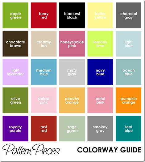 IMAGE - Pattern Pieces - COLORWAY GUIDE