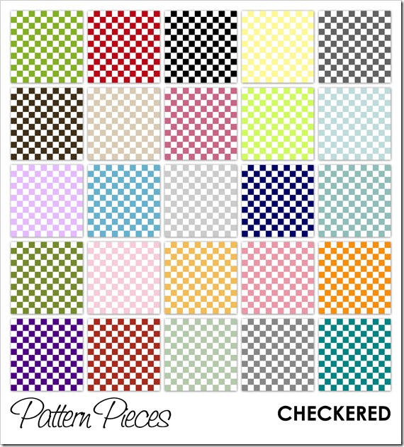 IMAGE - Pattern Pieces - Checkered