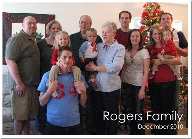 Rogers Family - December 2010