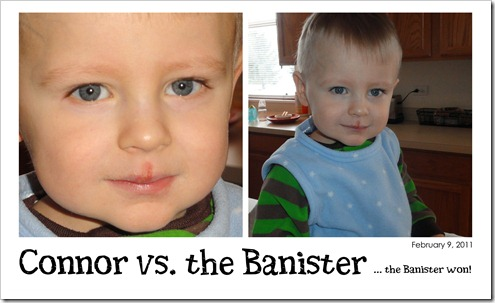 Connor vs. the Banister - February 9, 2011