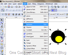 Exclusion in Inkscape