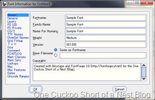 Font Information