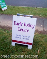 Early Voting Centre VEC Victoria 2010