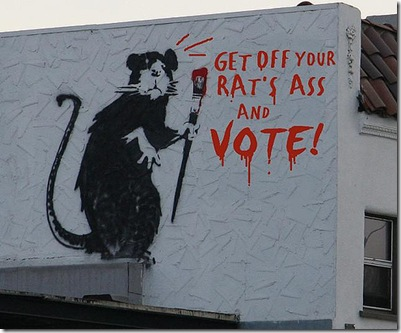 Banksy Vote.melfeasance.flickr