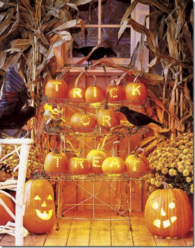 Pumpking Display.CountryLiving.com