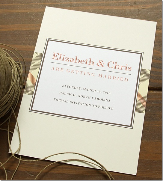 GatsbyPlaidWeddingInvite.dapperpaper.etsy