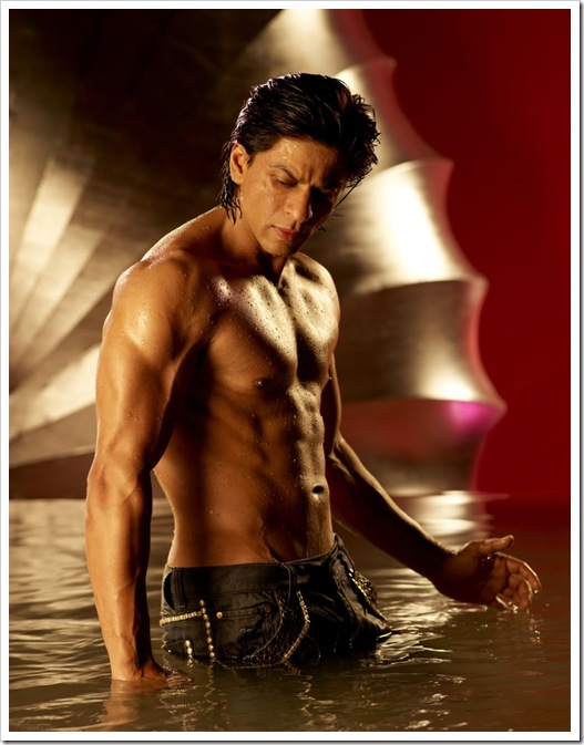 Shahrukh Khan shirtless body
