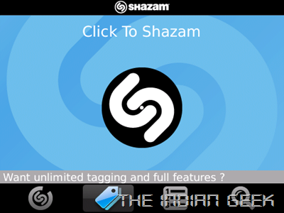 Shazam - Homescreen