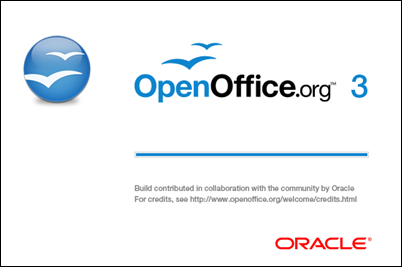 OpenOffice.org Writer - Splash screen