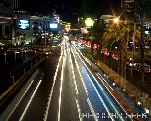 4 second long shutter exposure to capture car headlight streaks
