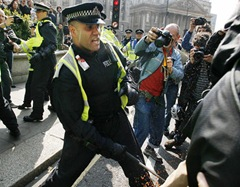 This is London G20 police