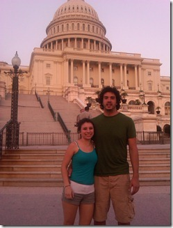 Colin and Maria in front of capital