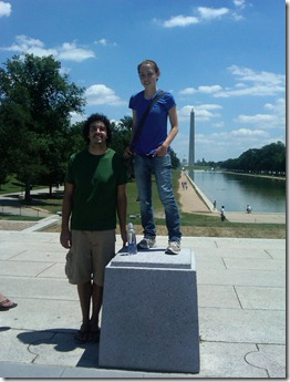 Colin and I in front of Monument