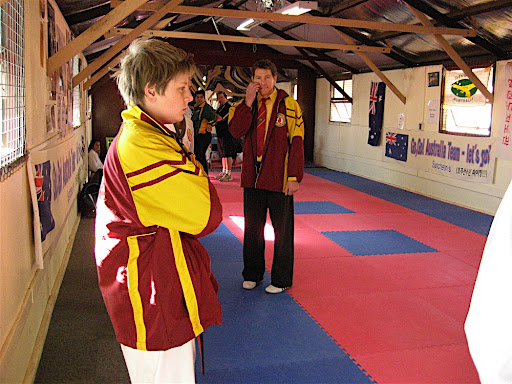 pro teakwondo sparring