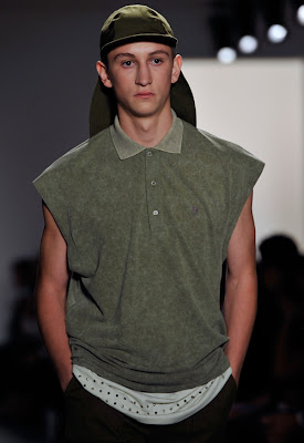 A model walks the runway at the Richard Chai Men Spring 2011 fashion show during Mercedes-Benz Fashion Week at Milk Studios on September 13, 2010 in New York City.