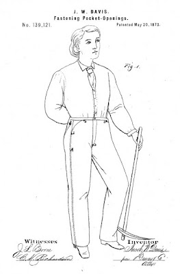 Levi Strauss Patent No. 139,121. August 9th, 1873. For Riveted Pockets for Denim Jeans.jpeg