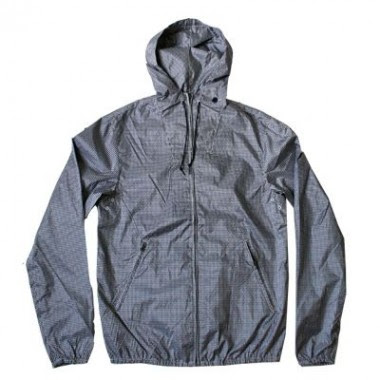 YMC Zip Hood Gingham Jacket in Navy and Off White.jpeg