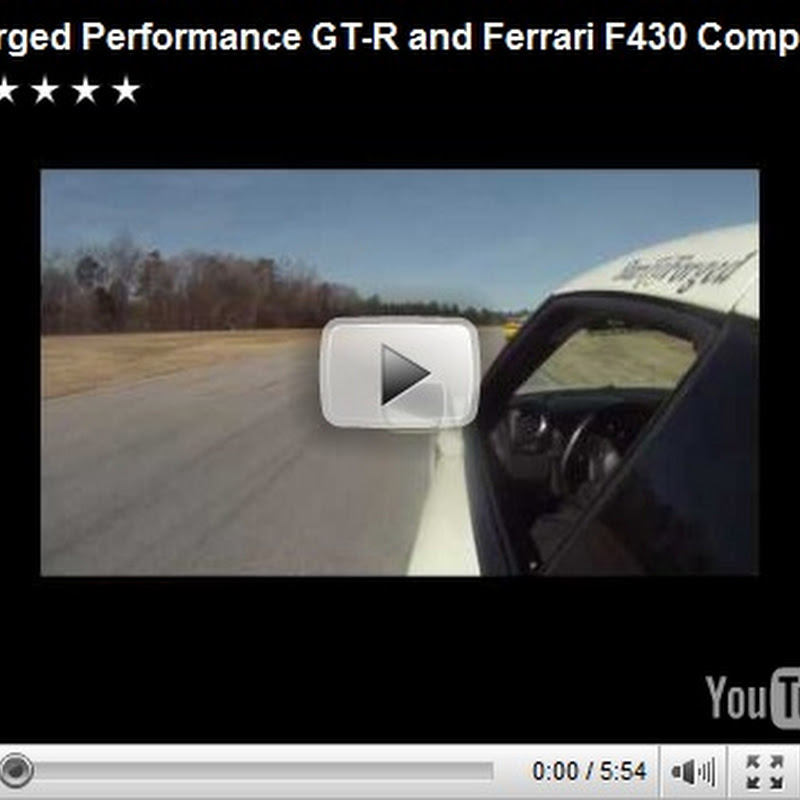 Nissan GT-R vs Ferrari F430GT Video