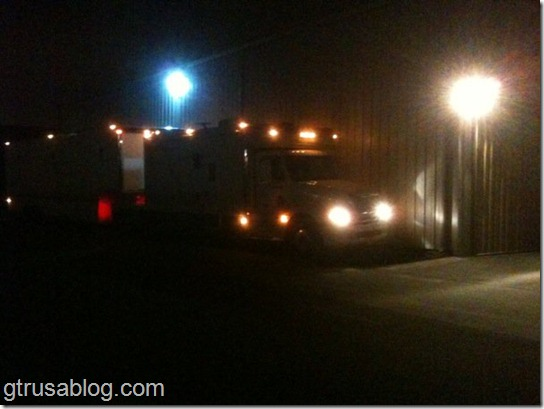 Truck Leaving