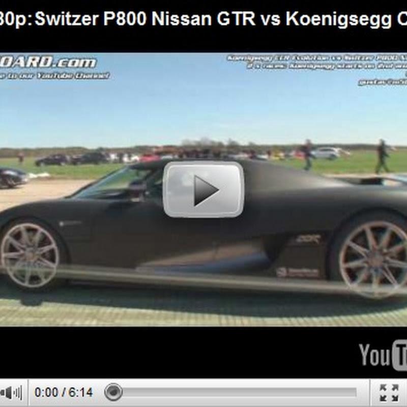 Switzer P800 Nissan GTR vs Koenigsegg CCR x 2 Races