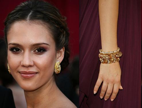 Oscar Jewelry - Jessica Alba