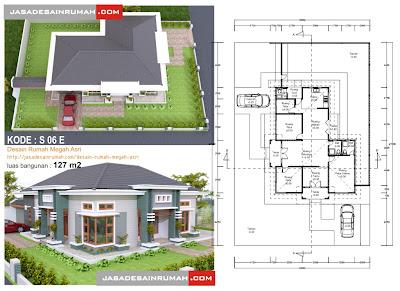 desain rumah megah asri @ jasa desain rumah