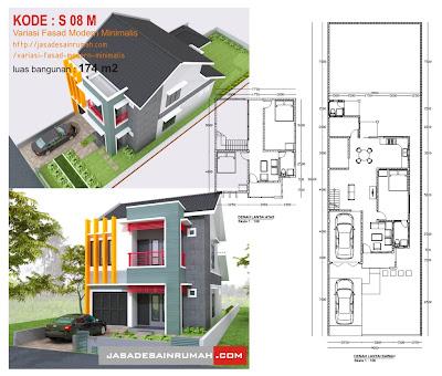 variasi fasad modern minimalis @ jasa desain rumah