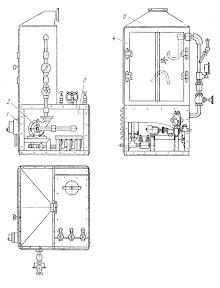 Установка для очистки от накипи радиаторов автомобилей горячим раствором и последующей промывки их водой