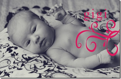 Birth Announcement Tina Front bw