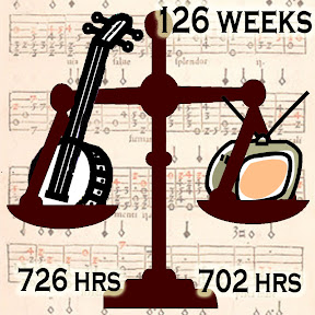 Banjo 726 hrs, TV 702 hours