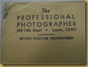 Amplop Professional Photographer - kop
