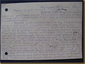 Kartu pos Kim Hok Batang Temanggung 19 okt 1934 - balik