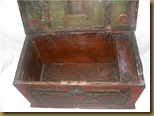 Kotak kayu ukir - terbuka