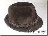 Topi Fedora Westbury coklat - kanan