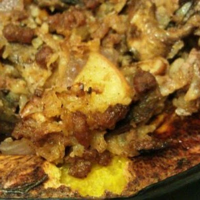 Paleo Cauliflower Rice Stuffed Acorn Squash