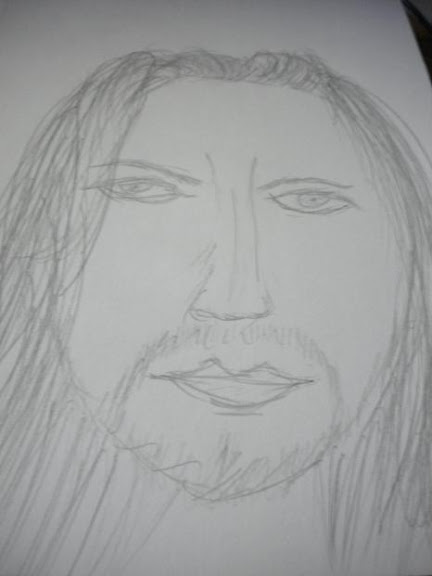 Sketch of Eddie Vedder of Pearl Jam