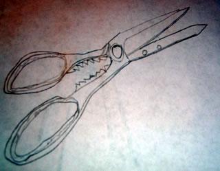 Practice drawing scissors