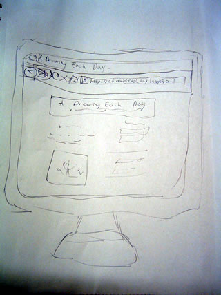 sketch of my computer monitor