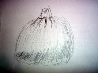 sketch of a little pumpkin