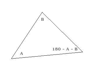A larger, scaled, image of the previous triangle