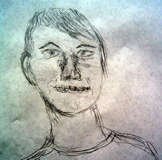 Sketch of Noah Lennox aka:Panda Bear