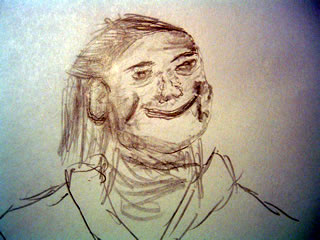 Sketch of random person, from some random ad, from some random magazine