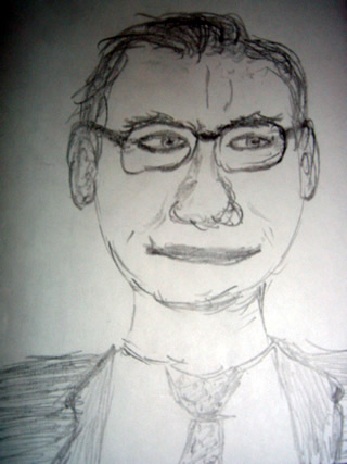 Sketch of Warren Buffet