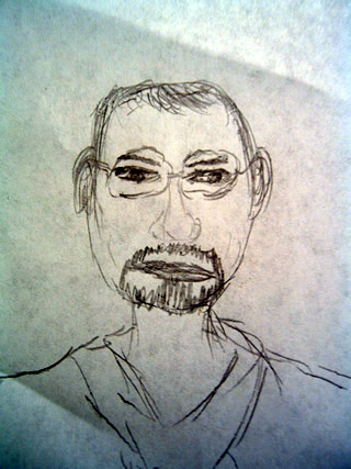 Sketch of Richard Weindruch
