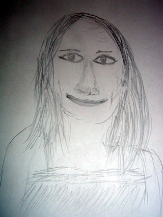 Sketch of Nina Persson