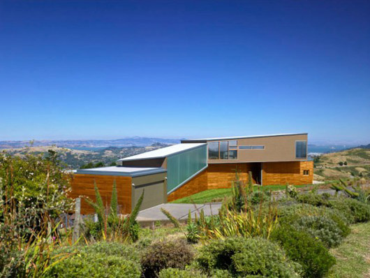 Modern Architecture Hillside Home Design Natural Landscape
