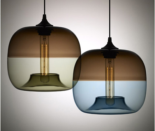 Modern Blown Clear Glass Pendant Light